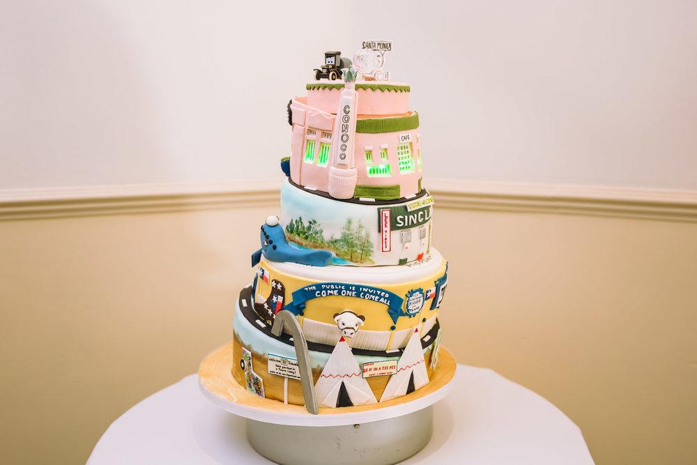 Route 66 wedding cake.jpg