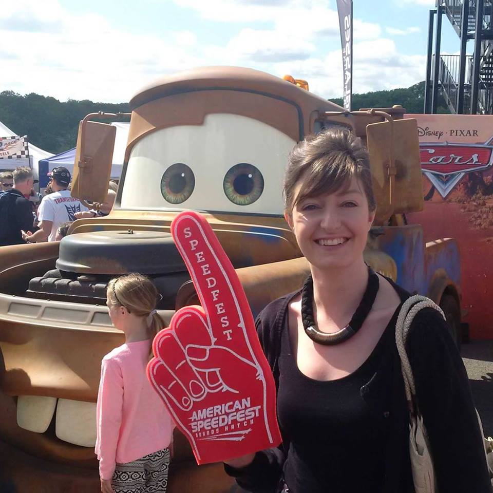 Me at the American speedfest with Mater