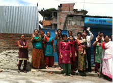 Group of Nepali women