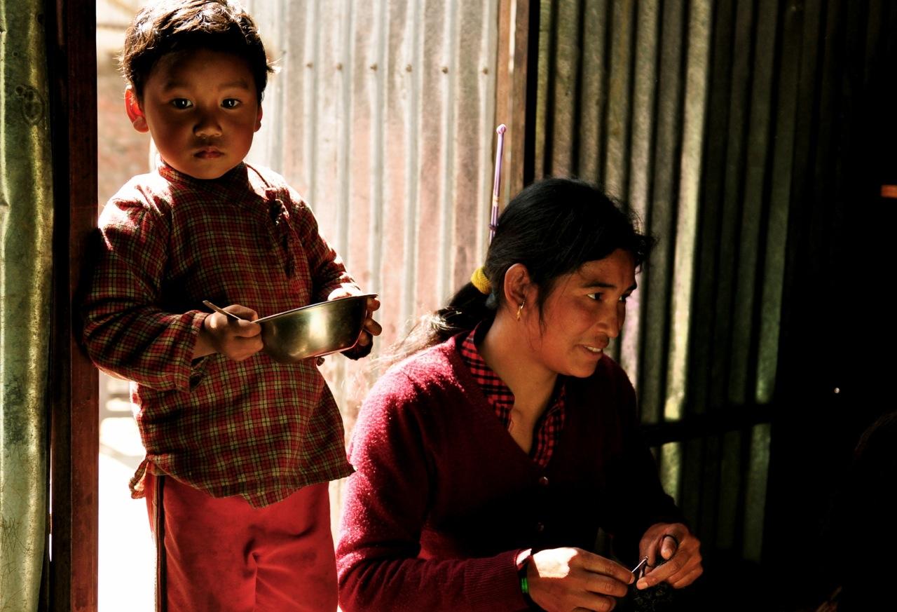 Santi Maya and her child
