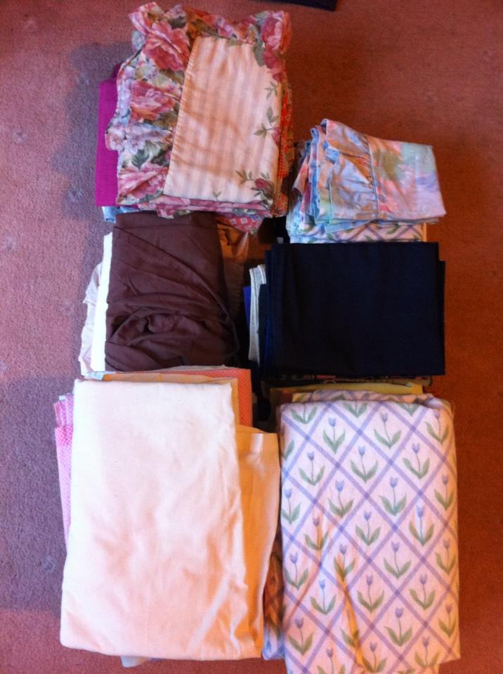 Donations of sheets and pillow cases that will help set up the new women that come to the centre