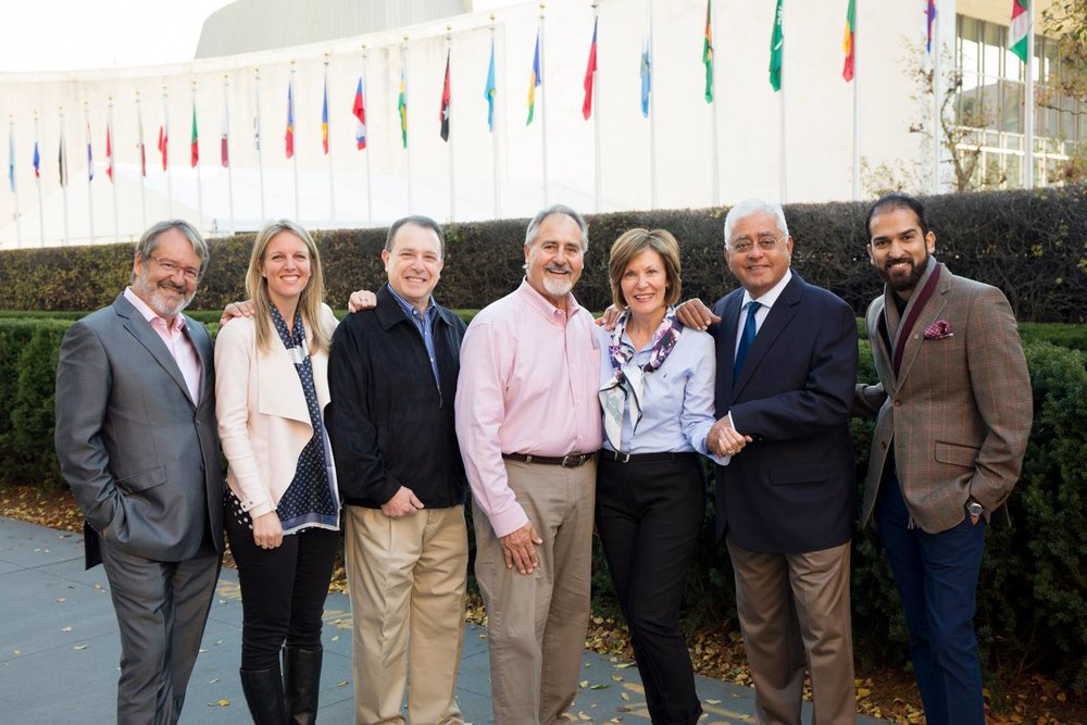 Stephanie Woollard and fellow recipients of the Rotary International Business Award at The United Nations