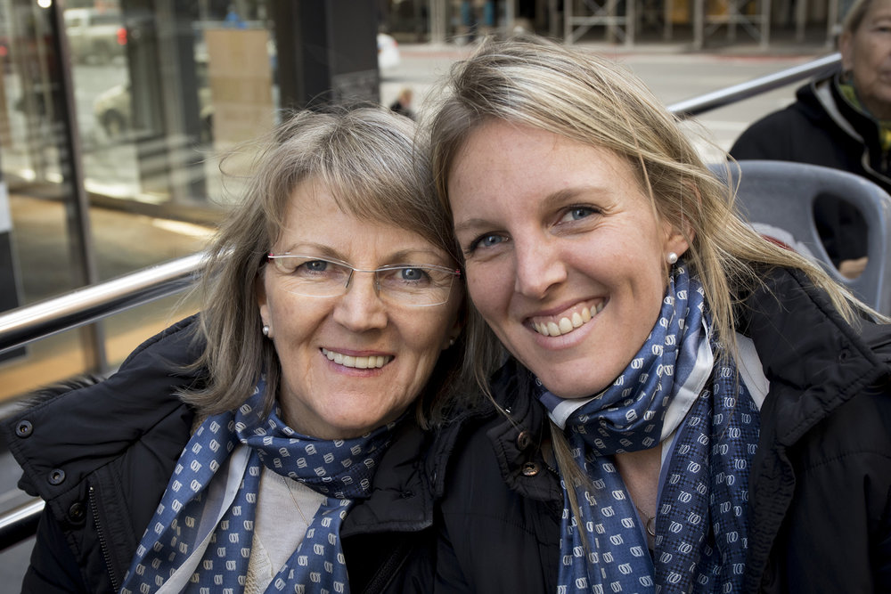 Seven Women Founder Steph Woollard and mum Nora in New York before accepting the award at the United Nations