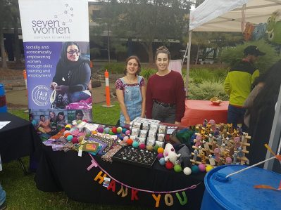 Our fantastic Seven Women student group at La Trobe University who sell our products every Monday and have done for the past 8 years!