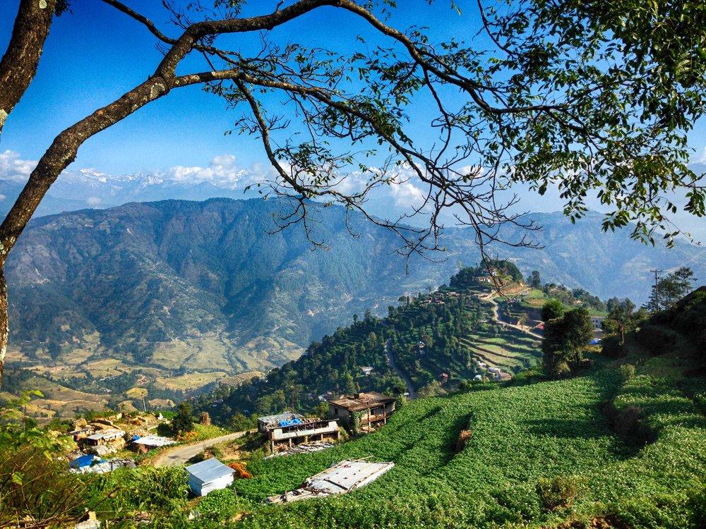 The wonderful view overlooking Nagakot village, Nepal