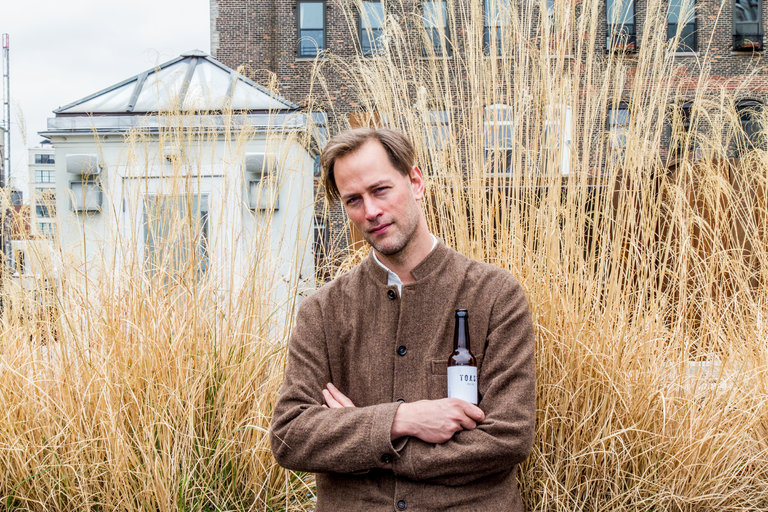 Tristram Stuart, the driving force behind rescuing wasted bread and turning it into pale ale. Photo by  Devin Yalkin for The New York Times.