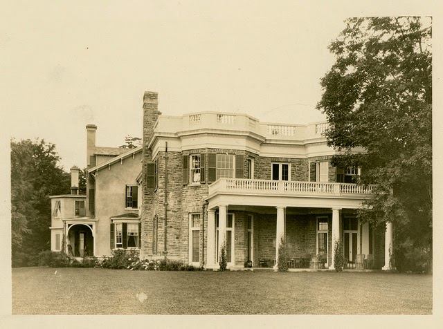 View of the southern end of Springwood at the Franklin Delano Roosevelt estate in Hyde Park, New York. Photo courtesy of the  FDR Presidential Library & Museum/Flickr.