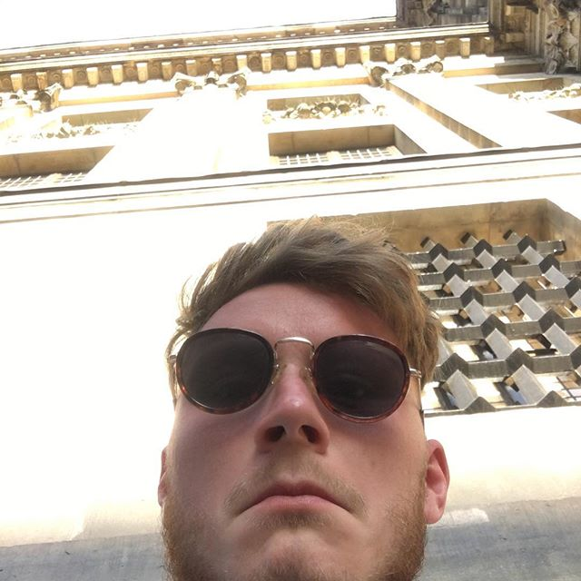 Glyn is more than happy to sit in the sun and bath in the glory of the D(vitamin), but me being the little red prune in the making has taken solitude in the shade of this huuuugggeee dope majestic church building 'ting👌🇳🇱🏛