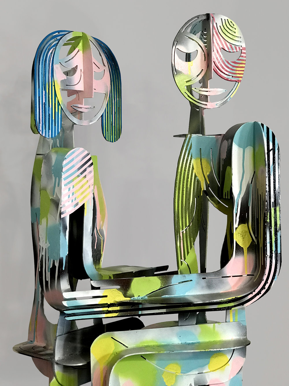 Couple No. 314 | Plasma Cut Steel and Welding