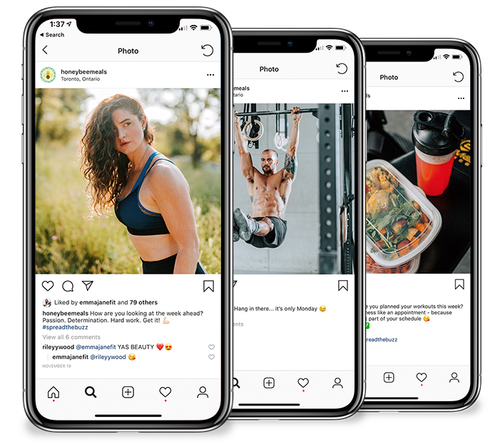 The Honey Bee Meals instagram is now filled with photos that are cohesive and professional, a reflection of the quality and dedication that Amy puts into her brand.