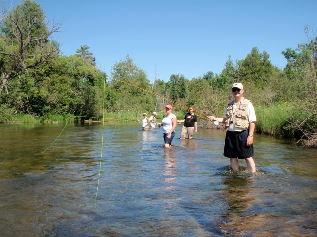 Team Building on a wild trout stream in northern Michigan