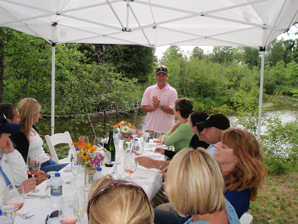 Stream side dining: Farm to table with locally produced wines
