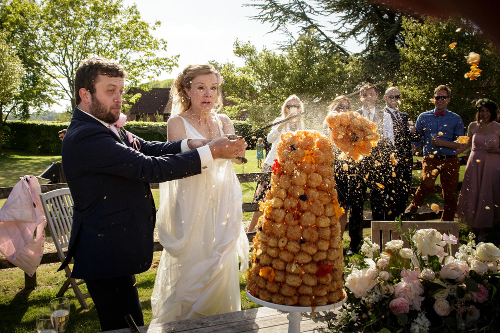 Wiltshire Wedding Reception Croquembouche