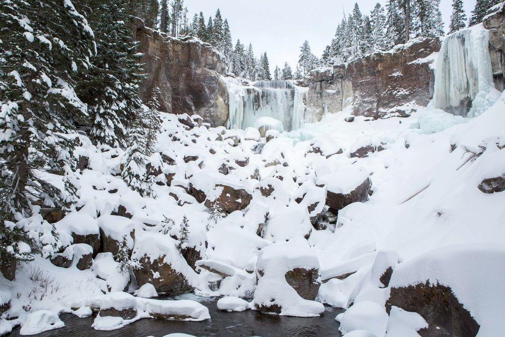 Winter Paulina Falls - Bend Photo Tours