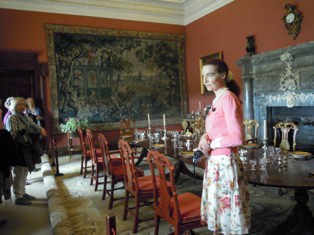 Guide Joan Griffith in the Dining Room