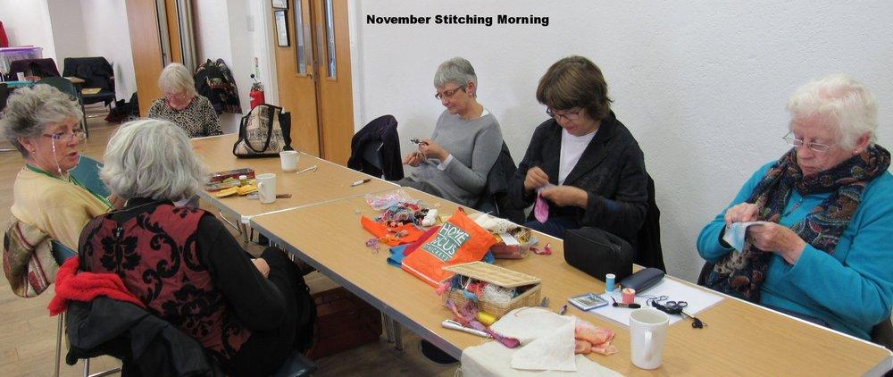 Stitching morning November 2018
