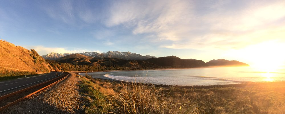Mangamaunu, New Zealand, where the mountains meet the sea.
