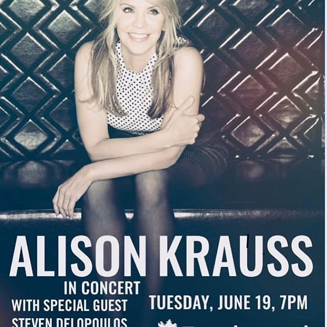 We are excited for our very own @stevendelopoulos to be a part of this special night with @alisonkrauss . Joining Steven on stage will be Johnny Philippidis. Tickets are on sale now for Tuesday, June 19th! Ticket link can be found in bio. Special thanks to @martinguitar @cordobaguitars #burlaptocashmere #stevendelopoulos #alisonkrauss #tanglewood #martinguitars #cordobaguitars
