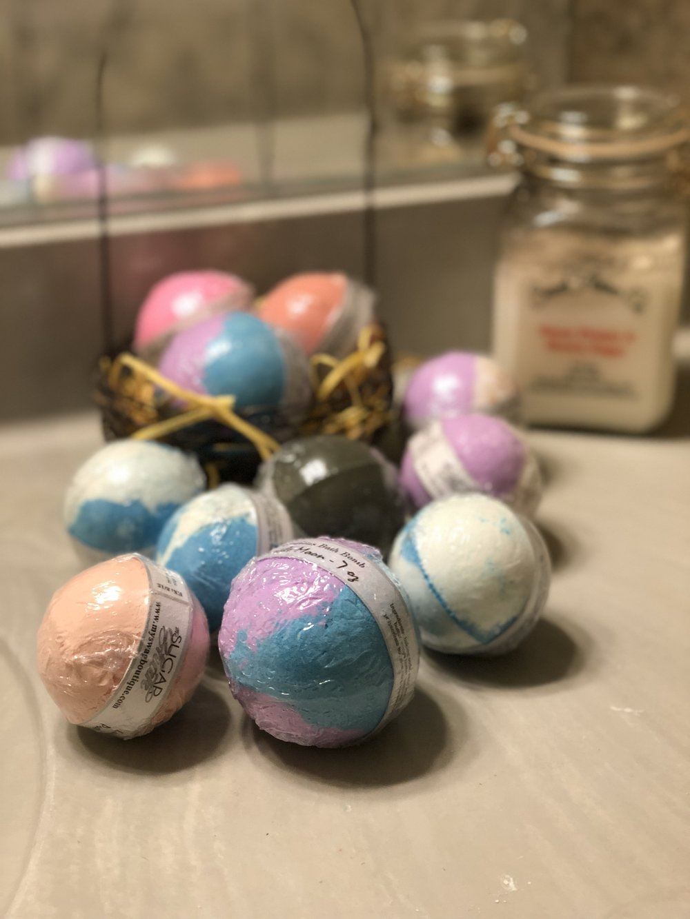 My personal collection of bath bombs! As you can see, I'm addicted.