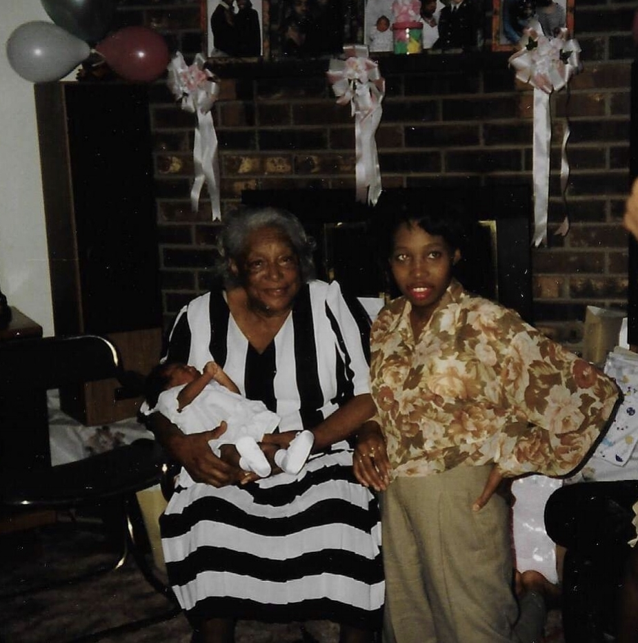 Mama Ruth and I at Kannon's baby shower. She was 2 weeks old. I had never been so sleep deprived in my entire life. It shows in this picture. Mama Ruth looked beautiful as usual.