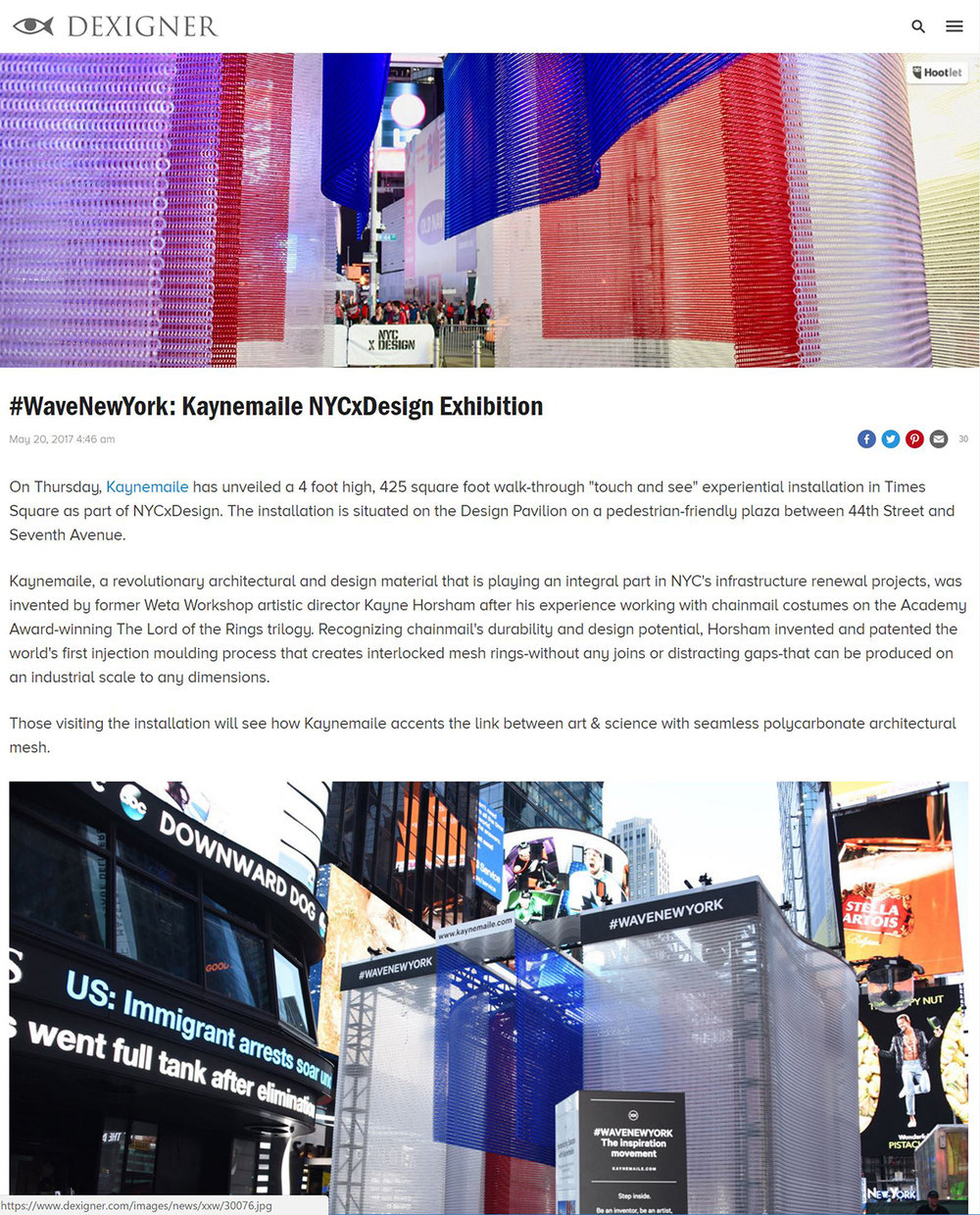 Dexigner: #WaveNewYork: Kaynemaile NYCxDesign Exhibition