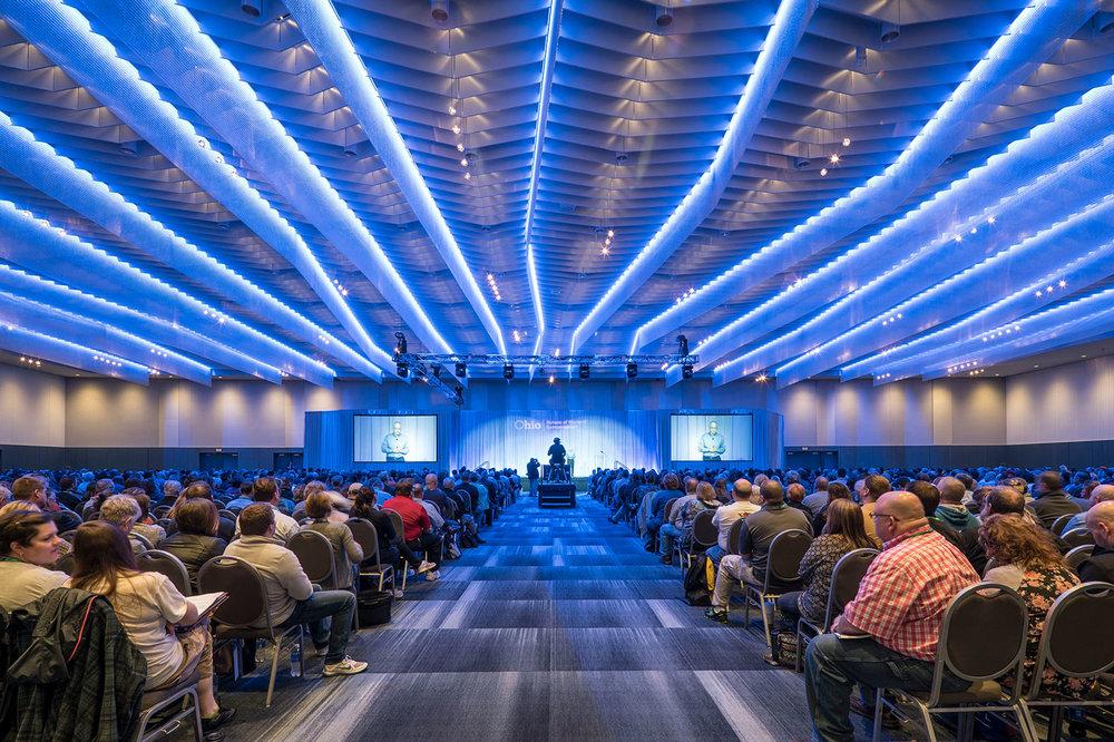 Lightening the Mood for Columbus Convention Center   Ohio, USA    Explore →