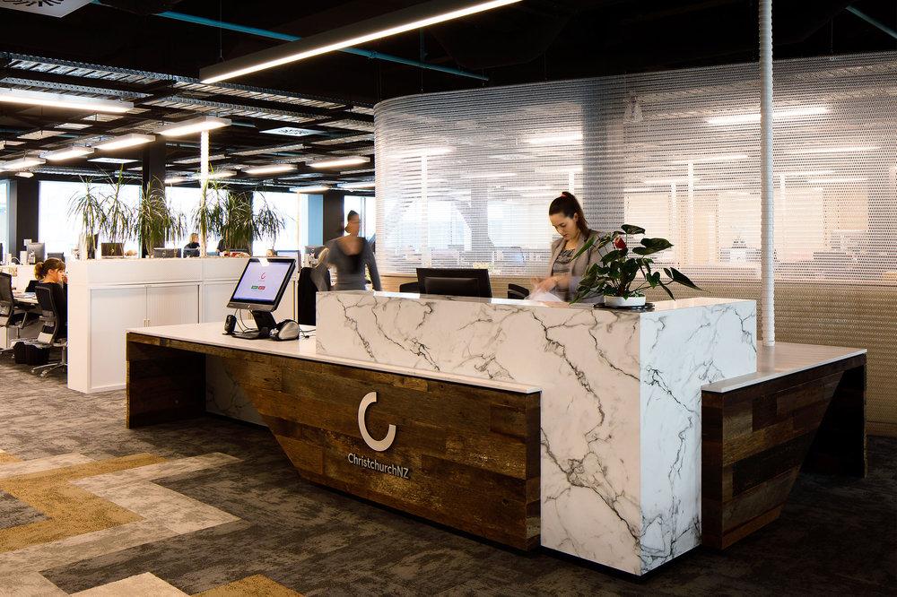 Premium Space Division for New Office Fitout  Canterbury Economic Development Corporation, Christchurch, New Zealand