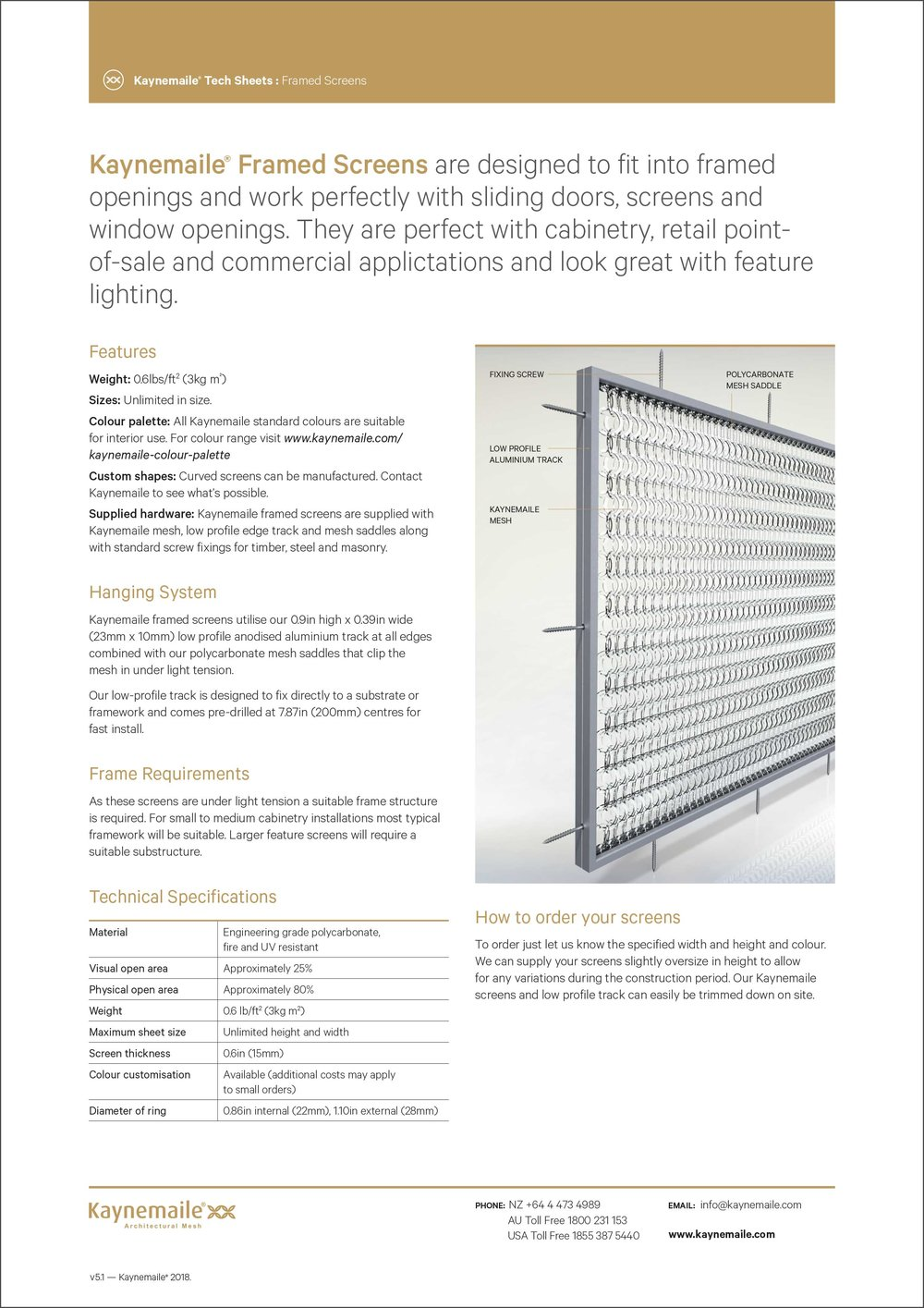 Framed Screens Tech Sheet     Download →