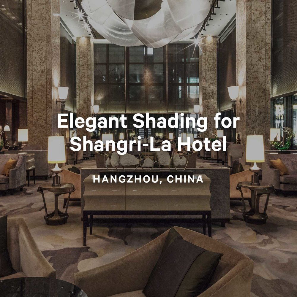 Elegant Shading for Opulent Hotel