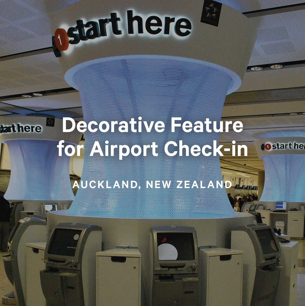 Decorative Feature for Airport Check-in