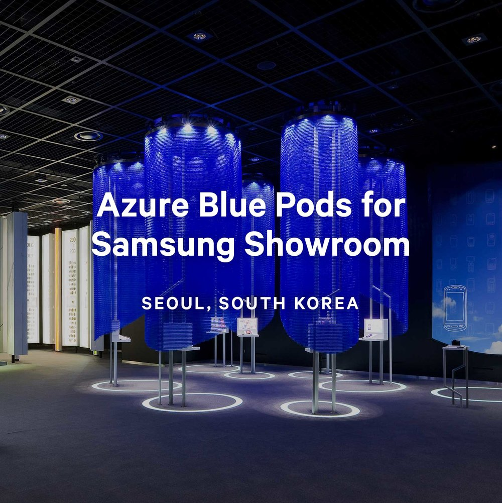 Azure Blue Pods for Samsung Showroom
