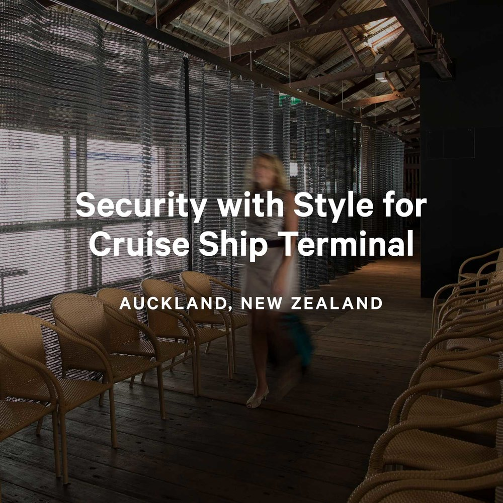 Security with Style for Cruise Ship Terminal