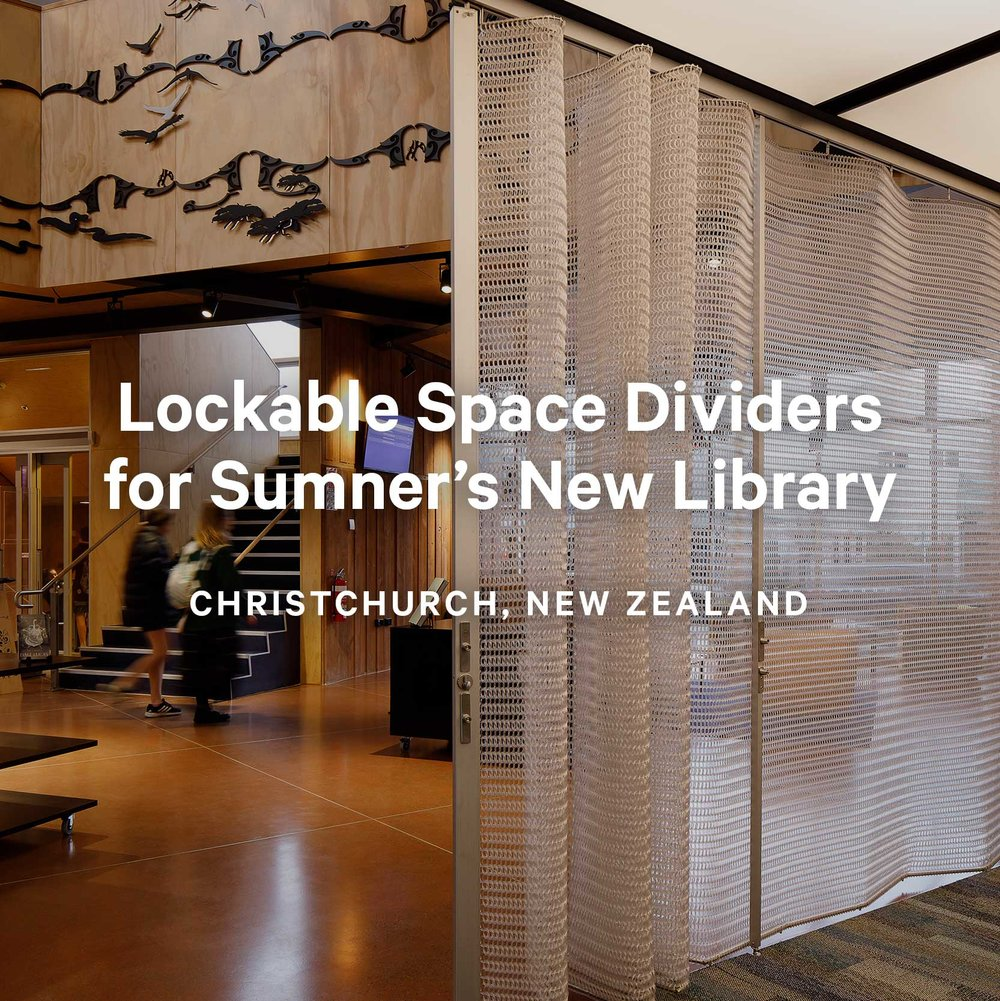 Lockable Space Dividers for Sumner's New Library