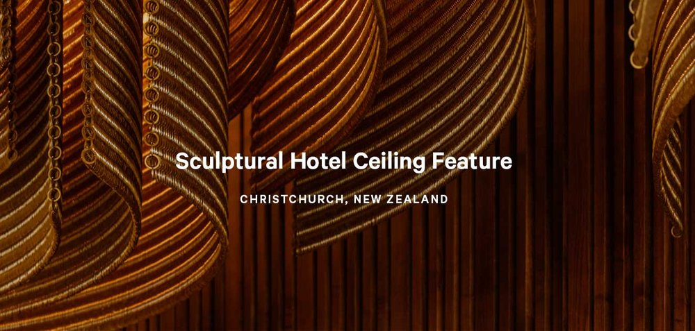 Sculptural Hotel Ceiling Feature
