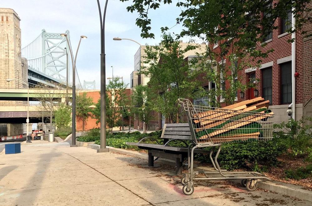 Lumber cart, Philadelphia