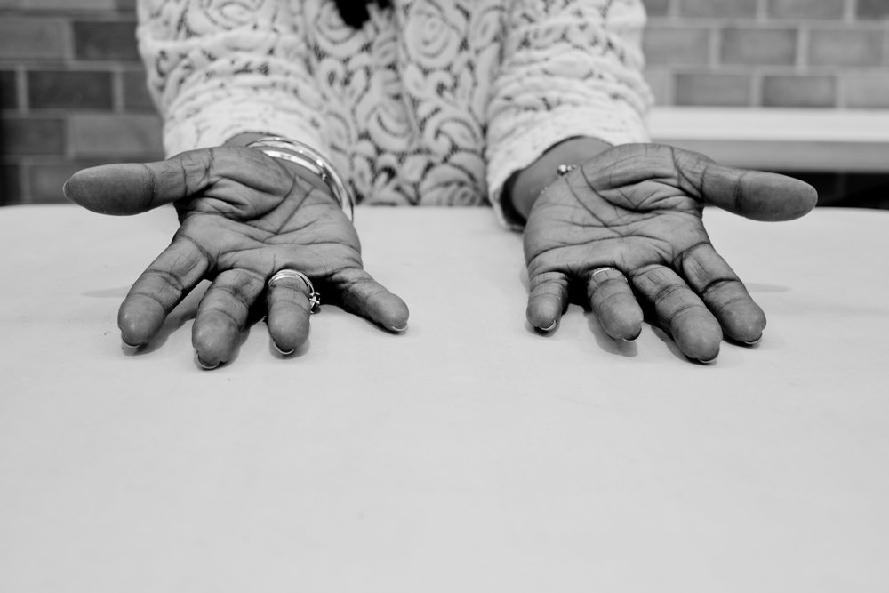 "Joyce, 60. ""I know my mother's hands. She was a hairdresser & my father was a carpenter."""