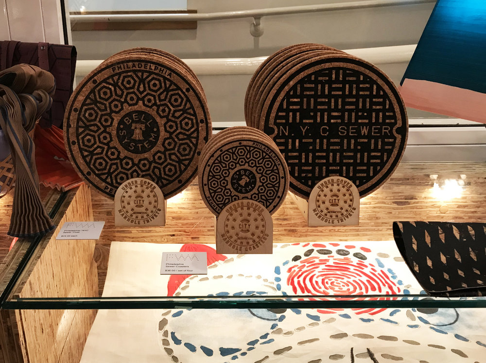 find the philly phever series and trivets at The fabric workshop and museum - See unique contemporary art and take a set home as a keepsake. All proceeds benefit the FWM.