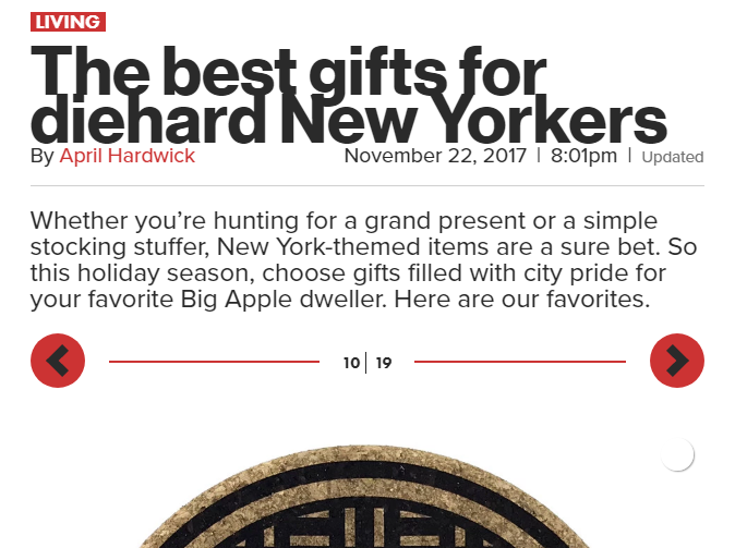 the new york post rates the under cover nyc trivet a best gift for diehard new yorkers - And the NY Post is number 20