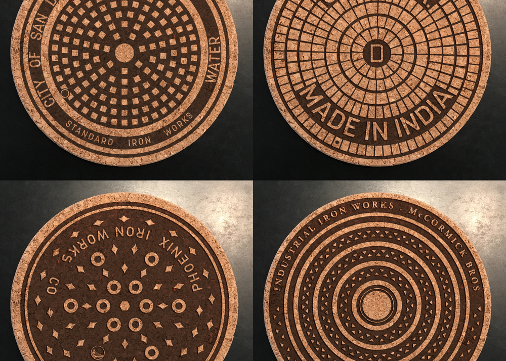 California dreaming? - Manhole covers from San Diego, Los Angeles, Oakland and San Francisco