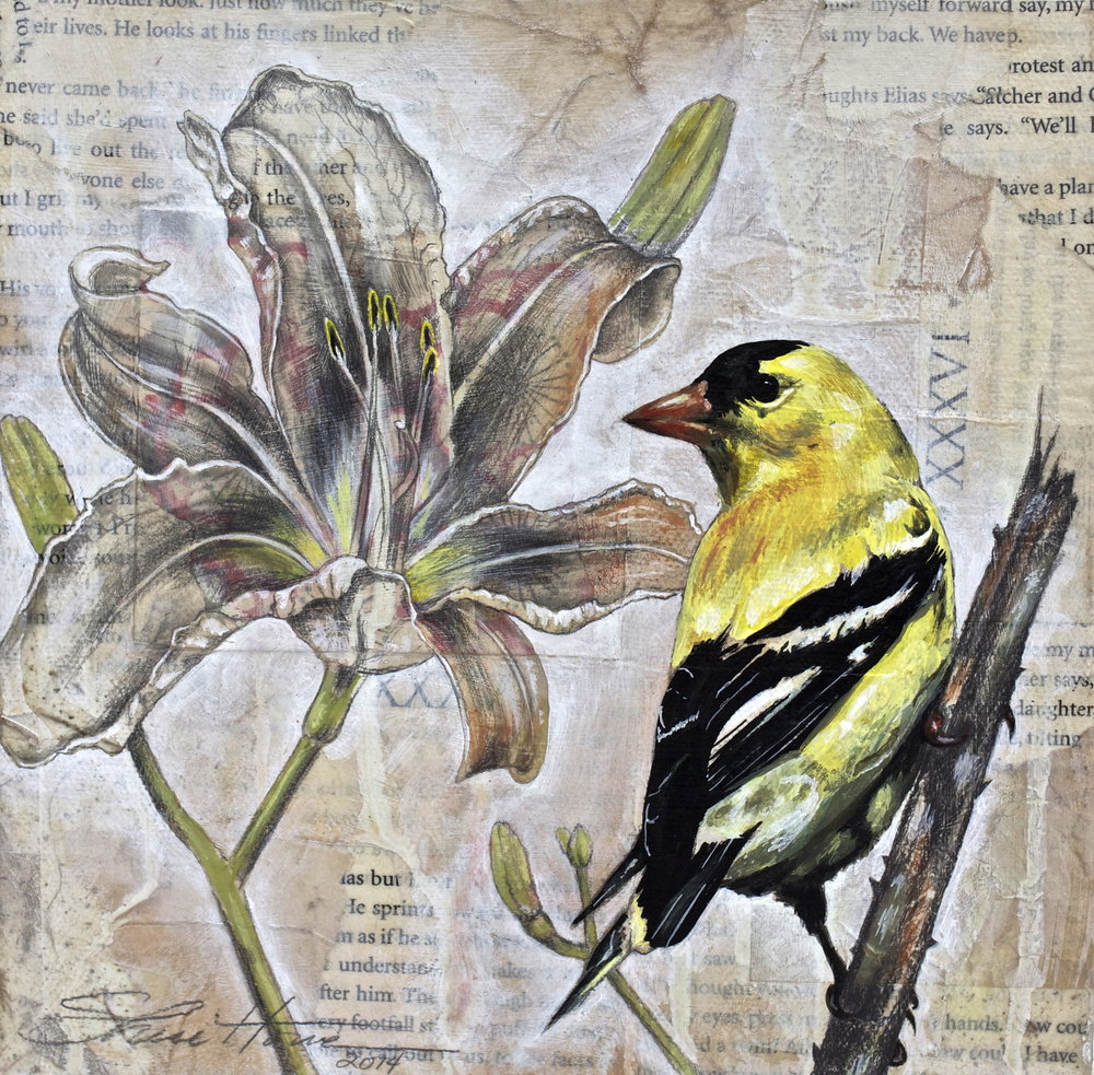 Goldfinch and Lily