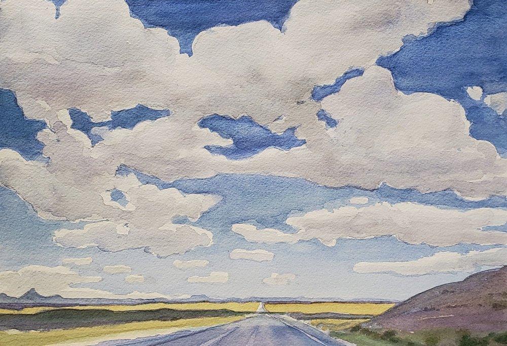 Clouds over Highway 6