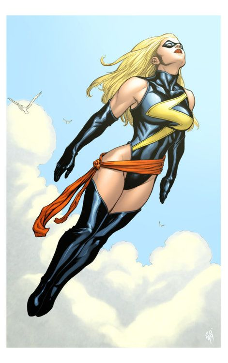Carol used this costume under the codenames of Warbird and Ms. Marvel (the second time she went by that name)