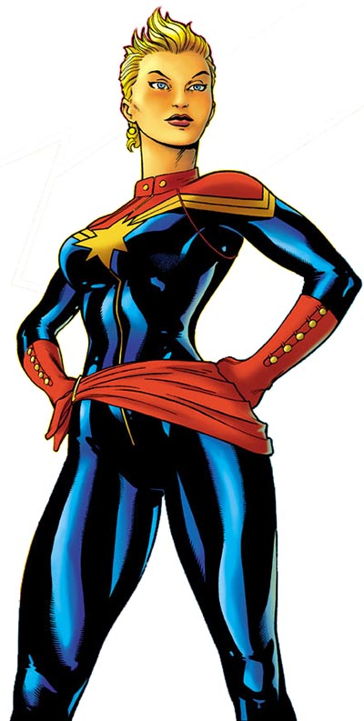 Finally, Carol in her Captain Marvel costume.  So much more practical than her previous outfits.