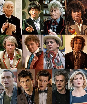 "The first two rows are your ""Classic"" Doctors, with the final row being the current ""Modern"" lineup."