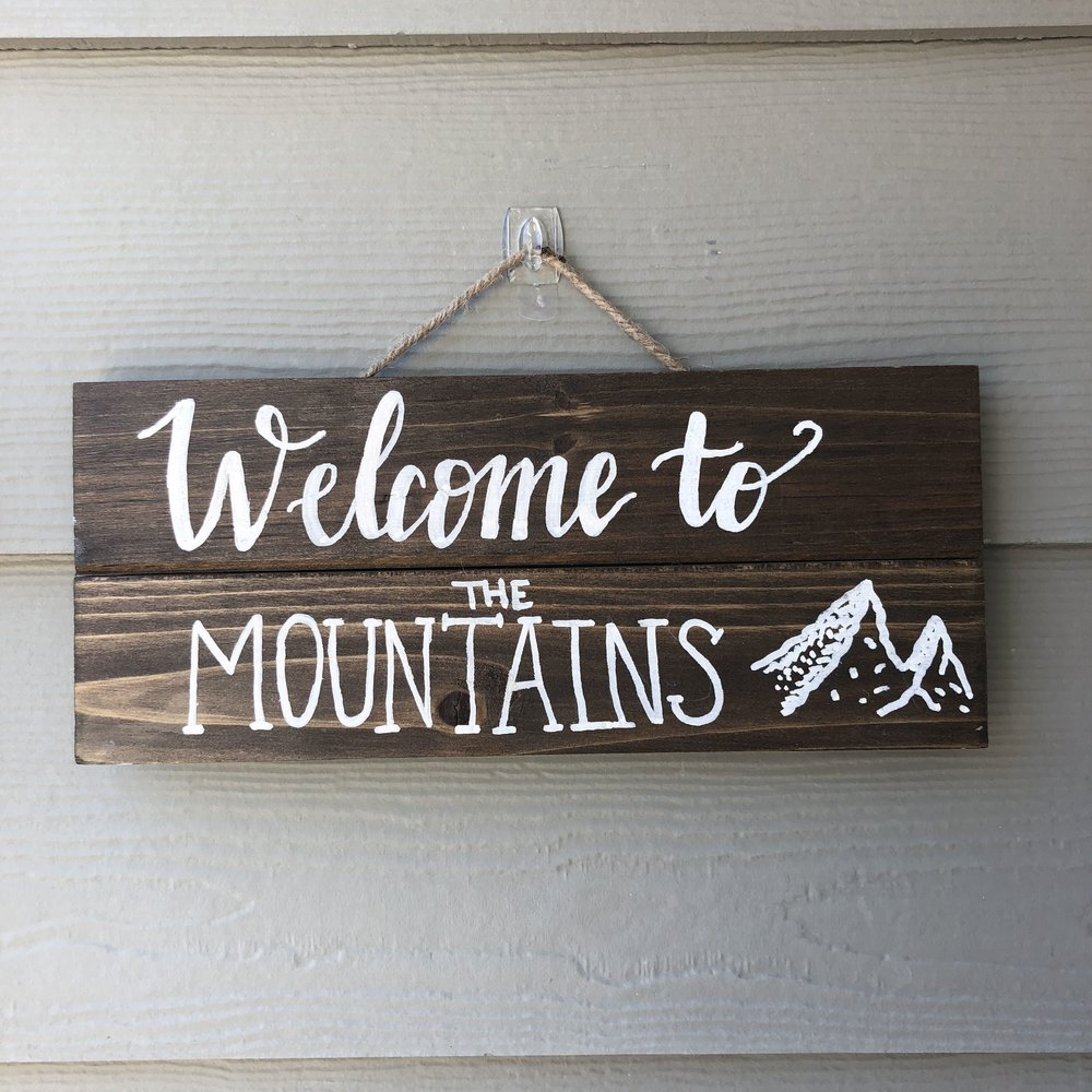 Mountains Calligraphy Wood Sign.jpg