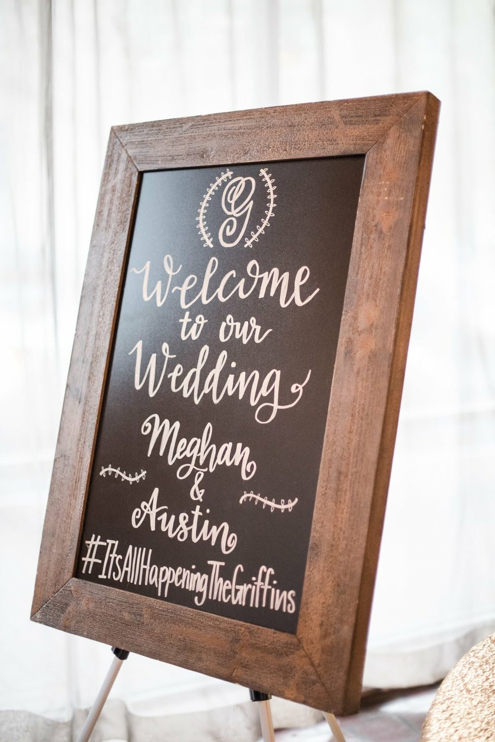 Welcome Griffin Wedding Chalkboard Calligraphy.jpg