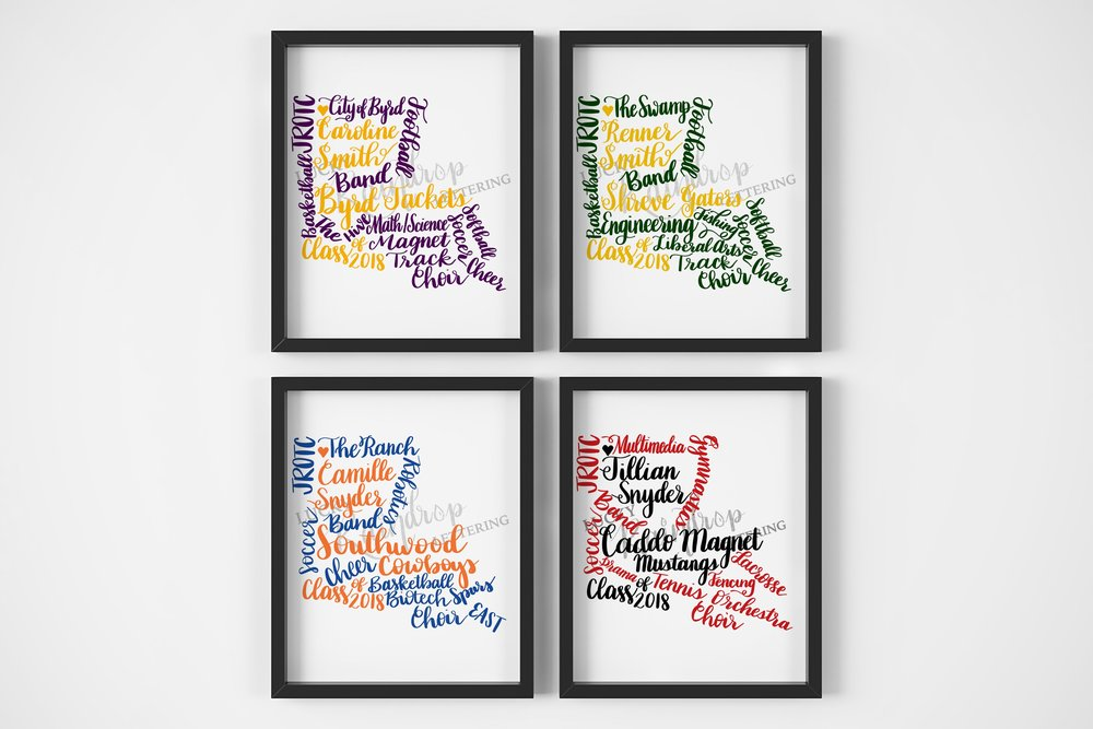 State Graduation Calligraphy Prints