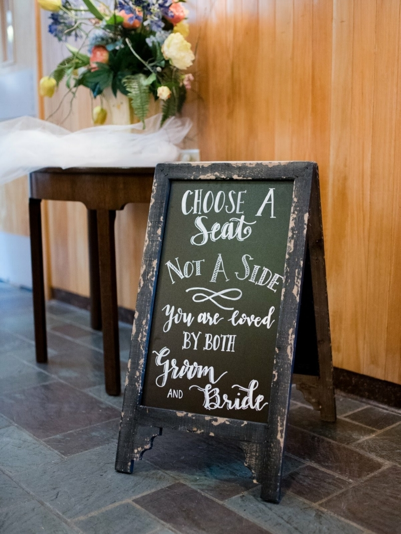 Choose A Seat Wedding Calligraphy Chalkboard Sign