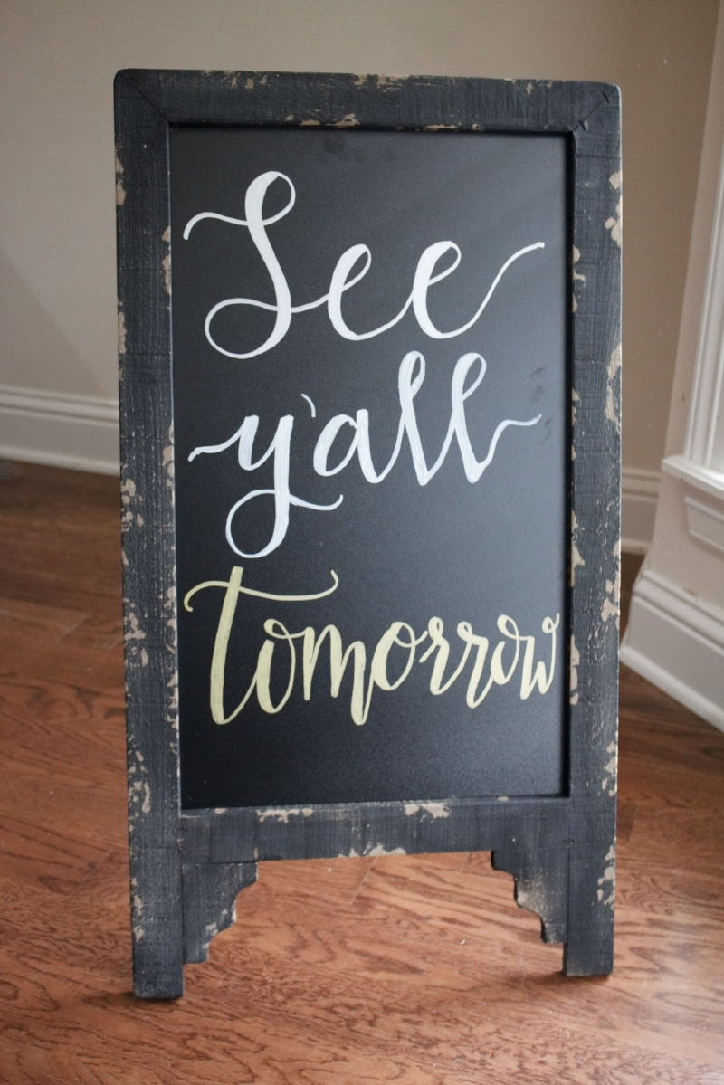 See Y'All Tomorrow Calligraphy Wedding Sign