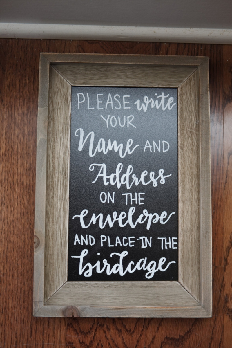 Wedding Envelopes Calligraphy Chalkboard Sign